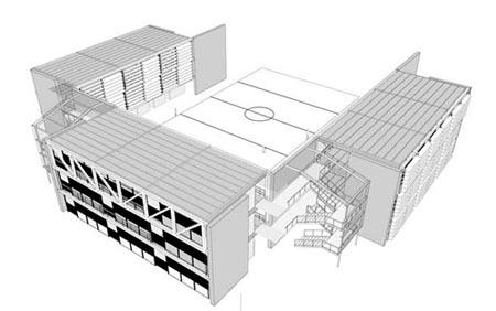 FDE. Projeto de novo padrão de escolas (1998).